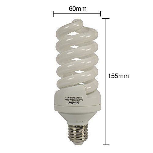 5X E27 Energiesparlampen ExtraStar 26W (=110W) Spirale Sparlampe 6400K Kaltweiss FE742 (26 Watt) -