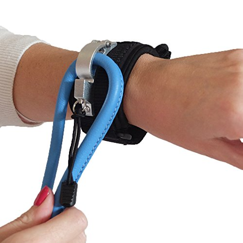 LIBERTY WRISTBAND (BLACK) – World's Most Superior Hands Free Device for Dog Walking. Engineered for Safety, Comfort and Control. FOR ALL SIZE LEASHES AND DOGS. JUST LET GO !