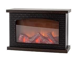 led tischkamin kamin led laterne schwarz aus kunststoff 30x20 cm mit stimmungsvoller. Black Bedroom Furniture Sets. Home Design Ideas