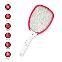 ELEXON Rechargeable LED Electric Bug Pest Fly Mosquito Killer Swatter Zapper Racket (EL111)