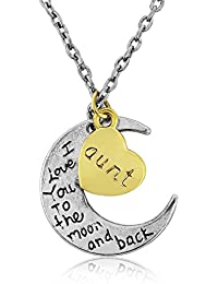 Auntie necklace - Boxed - I love you to the moon and back