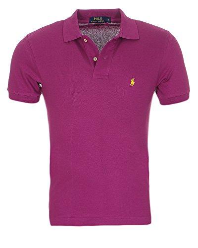 Ralph lauren camicia di polo piccolo pony polo uomo custom fit s-m-l-xl-xxl camicia di polo piccolo pony polo uomo custom fit s-m-l-xl-xxl, dimensione:m, colore:sangria