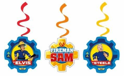 9902183Feuerwehrmann Sam Swirl Dekoration Kit ()