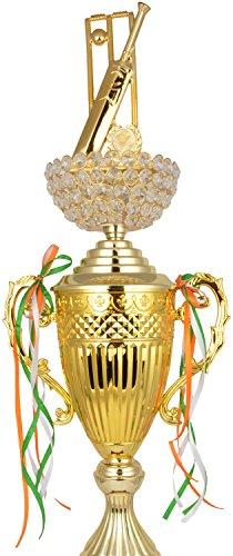 TROPHY JUNCTION Metallic Fiber Trophy (Gold, 30 inches)