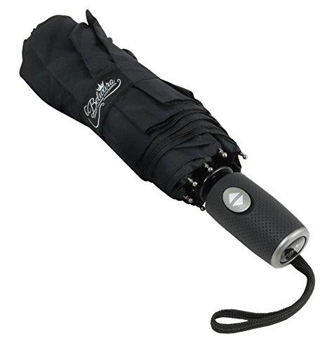 Sturmsicherer Regenschirm von Belwaro® - inkl. Schirm-Tasche - unglaublich Leichter und kompakter Taschenschirm mit Teflonbeschichtung - Schirm mit Auf-Zu-Automatik