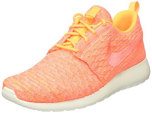 Nike Damen Roshe Um Tênis Flyknit Laranja (laranja Do Laser / Brilhante Manga De Vela)
