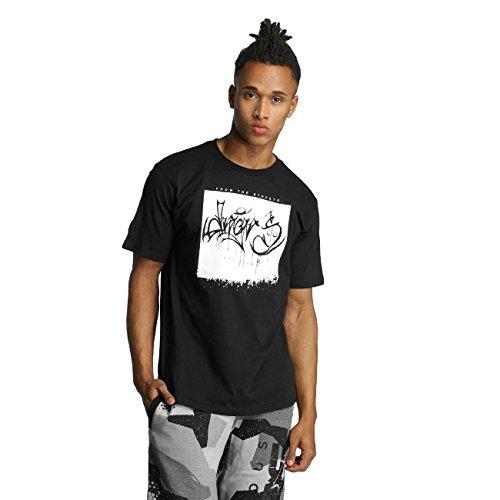 Dangerous DNGRS From The Streets Throw Up Herren T-Shirt Schwarz Schwarz