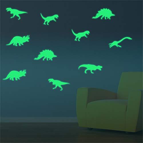 Ufengke Luminoso Dinosaurios Pegatinas Pared Brillo