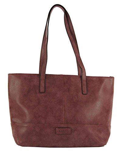 CASAdiNOVA Damen Handtasche Rot Shopper Used Look Vintage Tasche 2018 Neu Herbst Umhängetasche Leder Vegan Groß A4