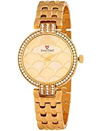 Swiss Grand SG_1219 Golden Coloured With Golden Stainless Steel Strap Quartz Watch For Women
