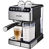Aicook Kaffeemaschine, Espressomaschine mit Siebträger, (15 bar Dampfdruck, BPA-frei) Hause Dampf-Kaffeemaschine, für Espresso Cappuccino Latte [Energieklasse A+++] (Large)