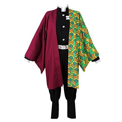 Fanstyle Demon Slayer Kimetsu no Yaiba Uniform Halloween Kostüme Mantel Tomioka Giyuu Cosplay Kostüm Kimono Set (Slayer Kostüm)