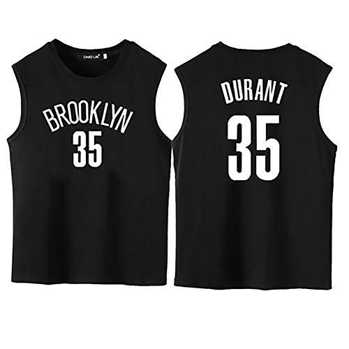 35 Knitterfrei Kleid Shirt (SXXRZA Basketballweste mit kurzen Ärmeln, passend für das 35. Trikot des Nets-Teams Nr. 11, lässiges Outdoor-T-Shirt-black2-M)