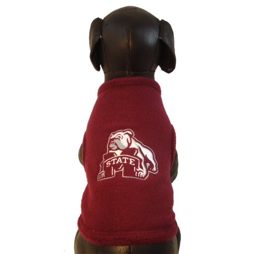 All Star Dogs NCAA Mississippi State Bulldogs Polar Fleece, Unisex-Erwachsene, Team Color, Medium Bulldogs Fleece-sweatshirt