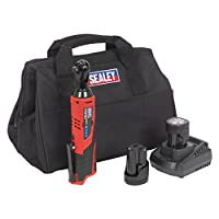 "Sealey CP1202KIT 12V Ratchet Wrench Kit 3/8"" Sq Drive-2 Batteries, 12 V, Red/Black, 3/8-Inch"