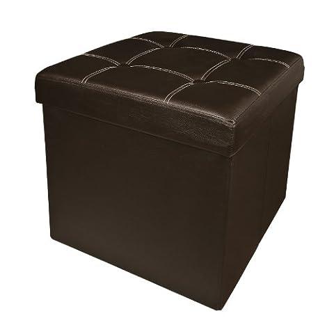 SoBuy® FSS27-KA XXL 48x48x48cm, Coffre de Rangement, Cube Pouf Dé