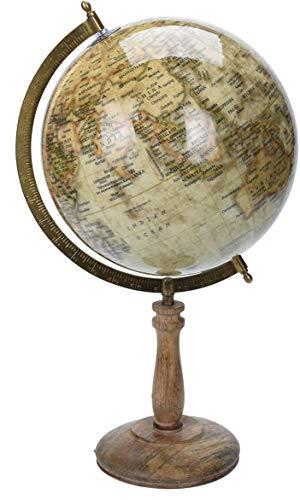 made2trade Globus im Retro Design - Braun - 32cm
