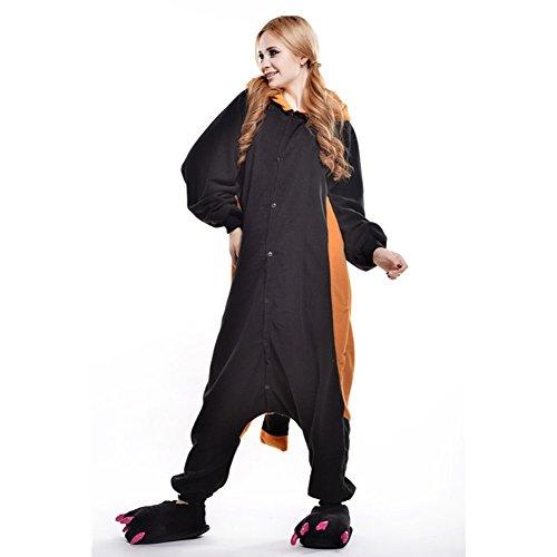 rren Jumpsuit Kostüm Schlafanzug Pyjamas Einteiler, Waschbär, L( Körpergröße: 170-178 CM) (Erwachsene Waschbär Kostüm)