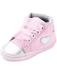kingko® Chaussures Fille Toile Bébés garçons Chaussures Sneaker anti-dérapant souple Sole Toddler adapté pour 0-18 mois bébé