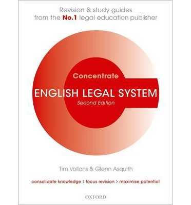 [(English Legal System Concentrate: Law Revision and Study Guide )] [Author: Tim Vollans] [Apr-2011]