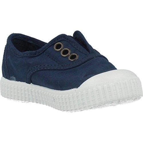 victoria Unisex-Kinder Inglesa Lona Tintada Punt Sneaker Blau