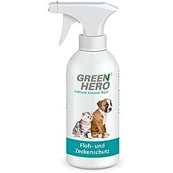 Green Hero Floh- und Zeckenschutz, Anwendung am Tier, 500 ml, Für Hunde und Katzen, Gegen Zecken, Flöhe u. v. m.