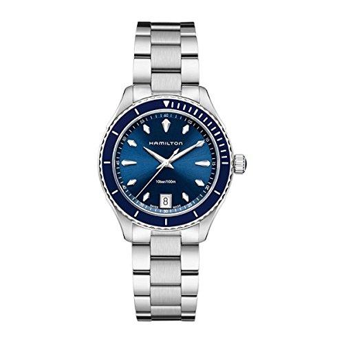 Hamilton Herren Analog Quarz Uhr mit Edelstahl Armband H37451141