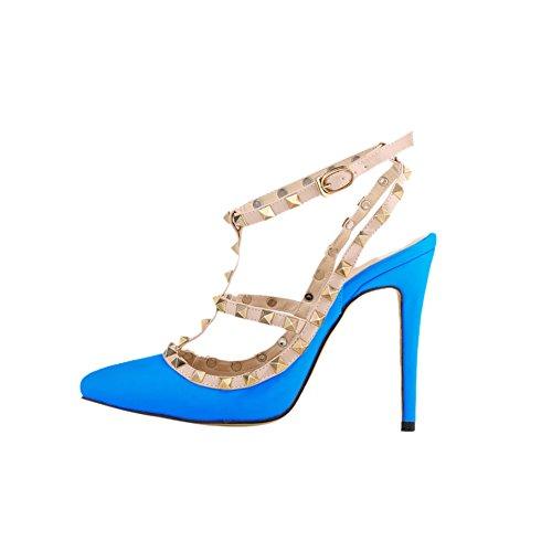 fereshte , Sandales Compensées femme Bleu