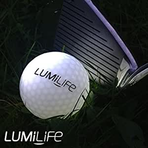 Lumilife Balle de Golf Lumineuse LED - Blanche