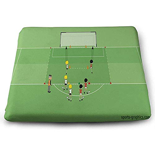 Dy-Home Square Seat Cushions TIPP Kick Soccer Ball Premium Comfort Floor Cushions for Travel -