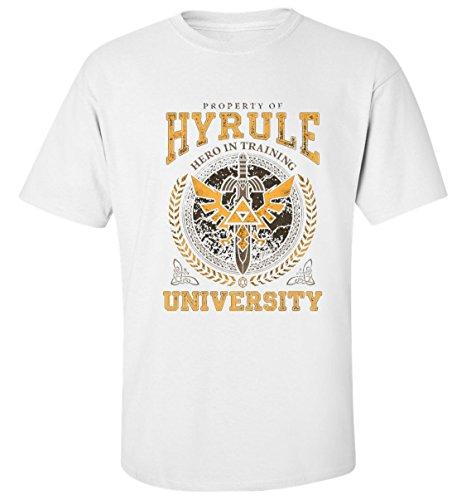 University of hyrule dope legend of zelda t-shirt herren baumwoll weiss (Kunst University Monsters Aus)