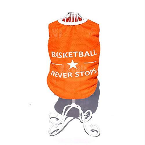 Basketball Jersey Kostüm - UD-strap Spring/Summer Dog Vest Basketball Jersey Cotton Dog Shirt T-Shirts 6X Breathable Pet Cat Clothes Welpe Sportswear 4XL c