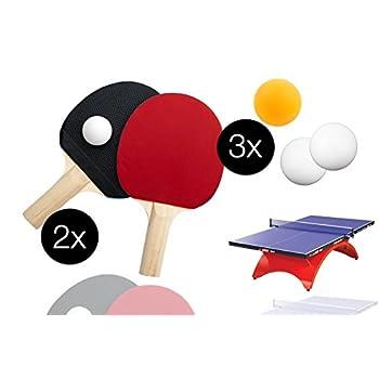Juego de tenis de mesa con...