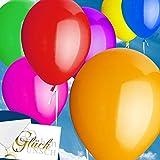 50x Rundballons Bunt Ø25cm + PORTOFREI mgl. + Helium & Ballongas geeignet. High Quality Premium Ballons vom Luftballonprofi & deutschen Heliumballon Experten.
