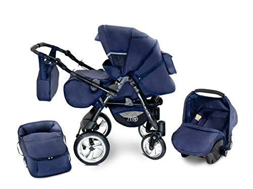 Zeo Rio Kinderwagen Kombikinderwagen Babywagen 3in1 mit Zubehör 0-3 Jahre 0-15 kg All in One (R9)