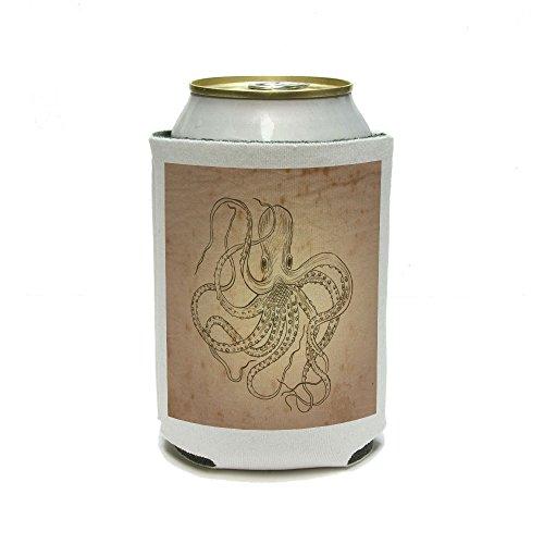 Octopus–Sea Monster Tattoo Can Cooler–Drink Isolator–Isolierter Getränkehalter (Schaumstoff-koozies)