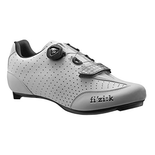 FIZIK Rennschuh R3B Uomo Obermaterial: Microtex Laser Perforated, Laufsohle: UD Carbon Fiber, Innensohle: fi'zi:k Cycling Insole, Verschluss: Boa IP1 System, Gewicht: 230g, white/black, Gr. 44 -
