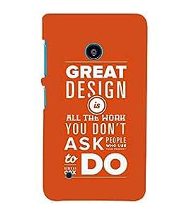 PrintVisa Designer Back Case Cover for Nokia Lumia 530 :: Nokia Lumia 530 RM 1017 :: Nokia Lumia 530 Dual SIM :: Microsoft Lumia 530 Dual (Confidential Quote)