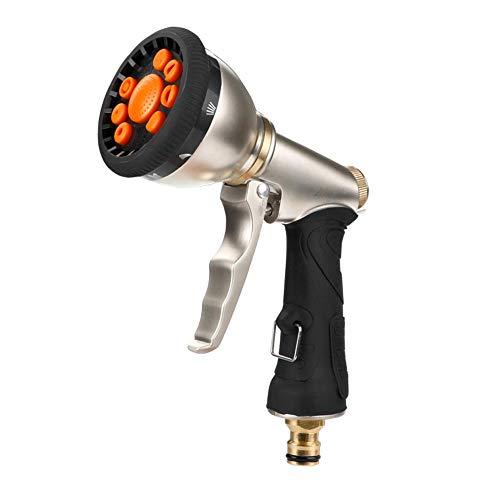 0 ℃ Outdoor Gartenschlauch-Spritzpistole, robuste Handsprüher-Sprühpistole für schwere Hand aus Metall in 9-Motiven, für das Waschen von Rasen und Garten für Autos und Haustiere - Flush Spritzen