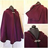 Fleece cape with satin binding - rounded hood - your choice of colour - made to order