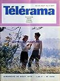 TELERAMA [No 1076] du 30/08/1970 - MATHIEU CARRIERE ET MARIE DUBOIS DANS - LA MAISON DES BORIES -