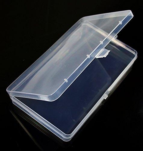 Paialco Klar Kunststoff Aufbewahrungsbox flach Rechteck 4-Zoll von 17,8cm