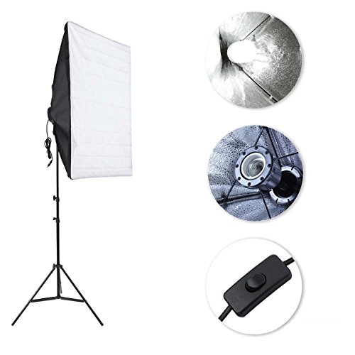 Softbox Dauerlicht Studioleuchten Nisso Softbox LED Fotostudio Softbox e27 28w Fotolampe Stativ