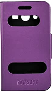 Purple Eyes Caller ID Flip Case Cover For Samsung Galaxy Core 2 G355H (Purple)