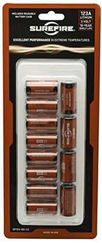 Surefire 12 Pack Carded 123A Lithium Batteries Surefire Batterie
