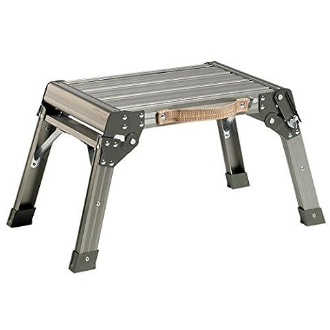 Arbeitsplattform DR-Office 1460 - Aluminium - Maße (B/T/H) 46x30x33 cm - Belastbarkeit 150 kg - geriffelte Trittfläche - Sicherheitsverriegelung