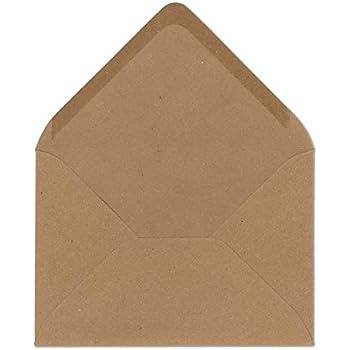 50 Kraftpapierumschläge, Briefumschläge, Umschläge