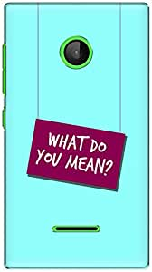 The Racoon Lean printed designer hard back mobile phone case cover for Microsoft Lumia 532. (Where Do Y)