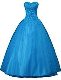 sunvary 2014 nueva quinceañera longitud de vestidos de fiesta Suelo de novia sin tirantes de tul