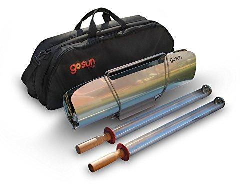 GoSun Sport Pro Pack, Tragbarer Solarkocher und Zubehör, fur 1,4L Lebensmittel, kochen in der Sonne, ideal fur Camping oder wandern, silber. -